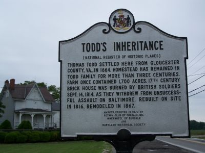 Todd's Inheritance Marker Photo, Click for full size