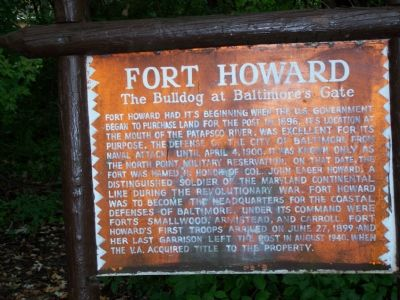 Fort Howard The Bulldog at Baltimore's Gate Marker image. Click for full size.