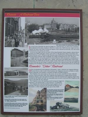 Roanoke - A Railroad Town Marker image. Click for full size.