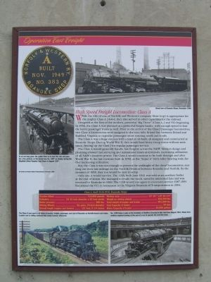 Operation Fast Freight Marker Photo, Click for full size