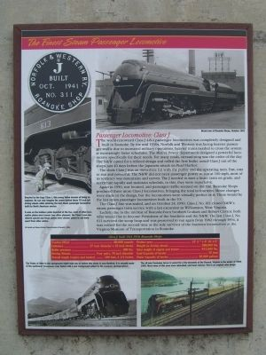 The Finest Steam Passenger Locomotive Marker image. Click for full size.