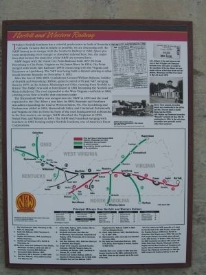 Norfolk and Western Railway Marker image. Click for full size.