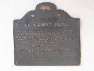 El Camino Real Marker at Mission San Diego de Acala image. Click for more information.