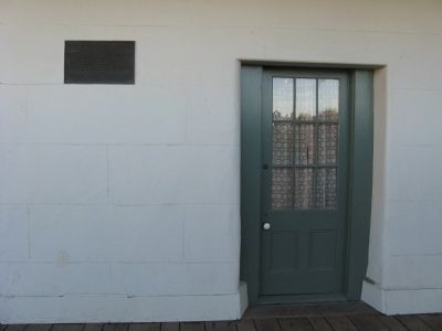 An Entrance Door and the Castro Adobe Marker image. Click for full size.