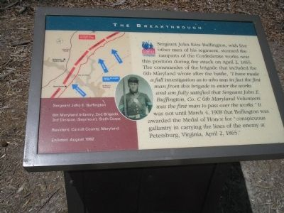 Sergeant John E. Buffington Marker Photo, Click for full size