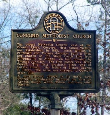 Concord Methodist Church Marker image. Click for full size.