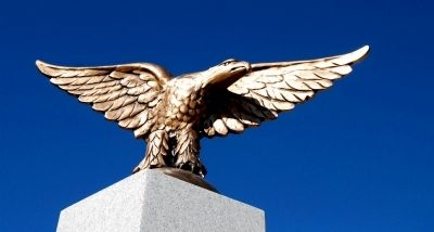 Easley Veterans Monument - Detail of Eagle image. Click for full size.