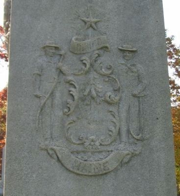 State Seal on Left Side of Monument image. Click for full size.