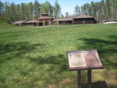 Marker in Pamplin Historical Park Photo, Click for full size