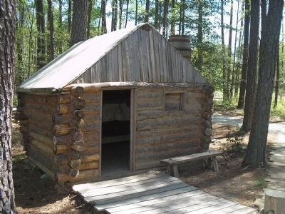 Confederate Winter Hut Photo, Click for full size