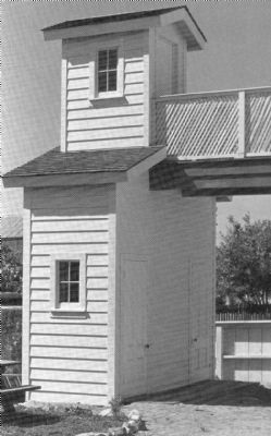 Two Story Outhouse at the Plaza Hotel, c1982 image. Click for full size.