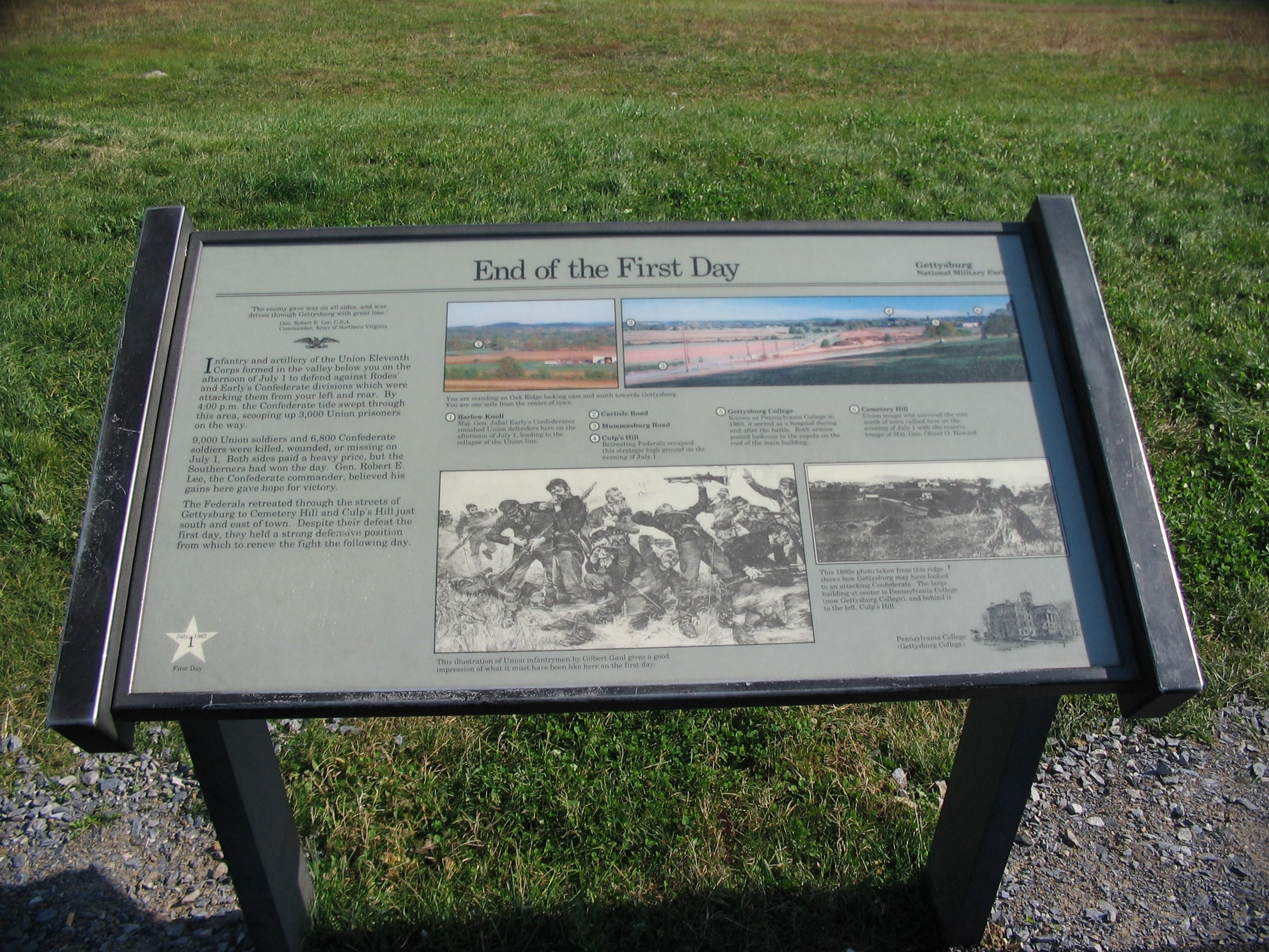 End of the First Day Marker