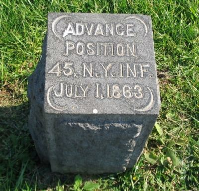 45th New York Infantry Marker Photo, Click for full size