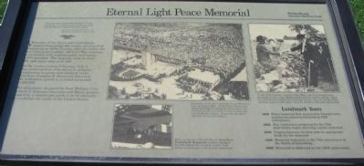 Eternal Peace Light Memorial Marker Photo, Click for full size