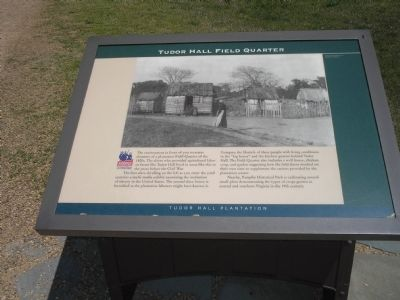Tudor Hall Field Quarter Marker Photo, Click for full size