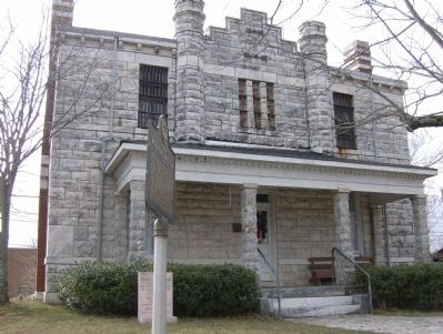 Old Pickens County Jail and Marker image. Click for full size.