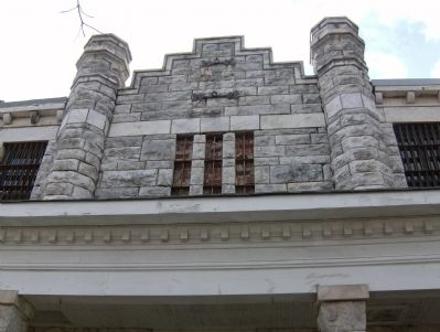 Old Pickens County Jail Architectural Detail image. Click for full size.