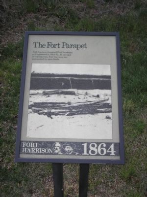 The Fort Parapet Marker Photo, Click for full size