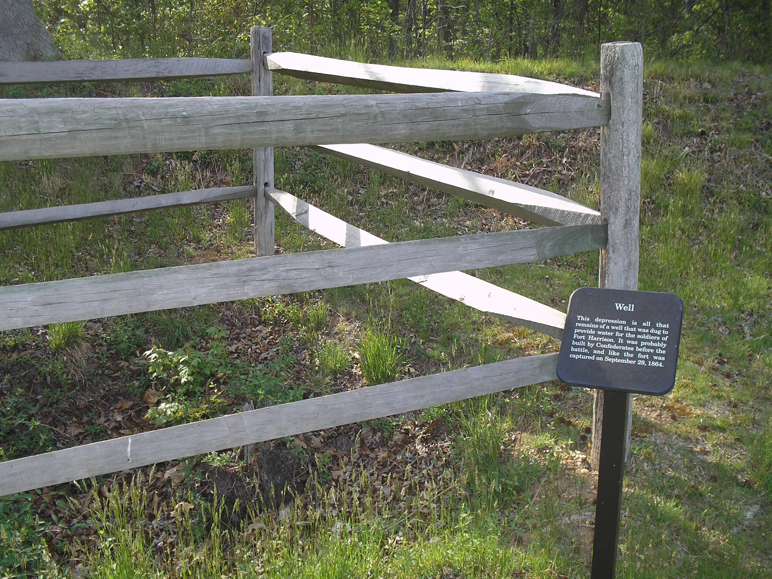 Marker in Fort Harrison