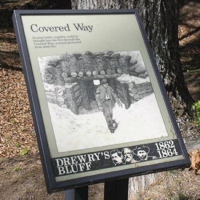 Covered Way Marker image. Click for full size.