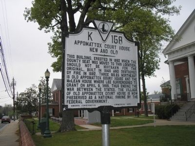 Appomattox Court House Marker image. Click for full size.