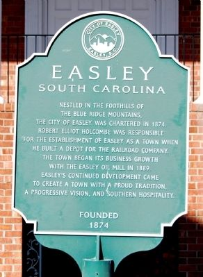 Easley, South Carolina Marker Photo, Click for full size