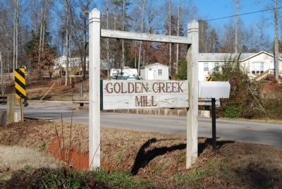 Golden Creek Mill Sign Photo, Click for full size