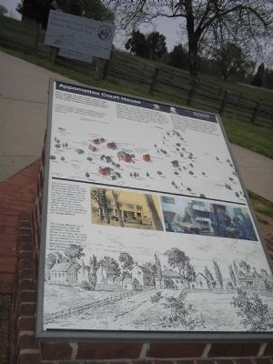 Appomattox Court House Marker Photo, Click for full size