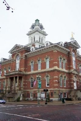 Athens County Courthouse and Markers Photo, Click for full size