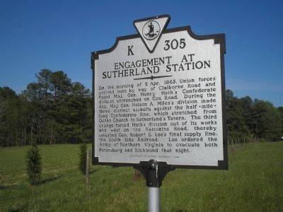 Engagement at Sutherland Station Marker Photo, Click for full size