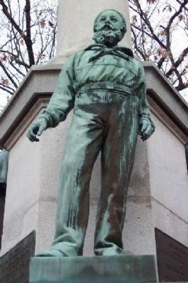 Athens County Civil War Soldiers and Sailors Memorial Sailor Statue image. Click for full size.