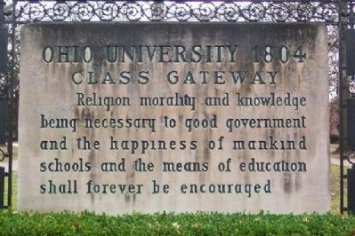 Ohio University 1804 Class Gateway </b>(street side) image. Click for full size.