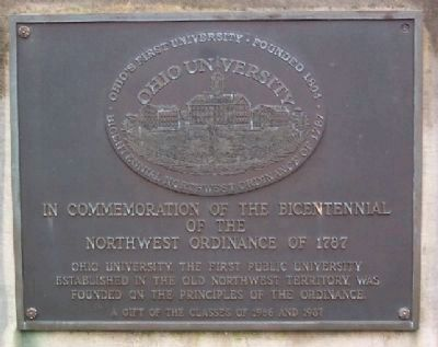 Bicentennial of the Northwest Ordinance Marker image. Click for full size.
