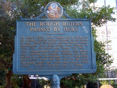 The Rough Riders Passed By Here Marker Photo, Click for full size