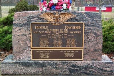Trimble Township War Memorial Photo, Click for full size