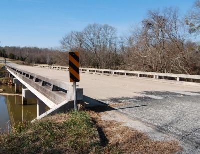 John C. Taylor Bridge -<br>Looking Southwest Across the Saluda River image. Click for full size.
