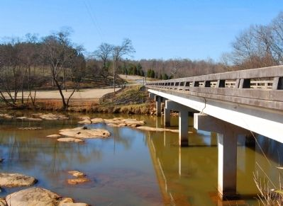 Saluda River Passing under the John C. Taylor Bridge image. Click for full size.