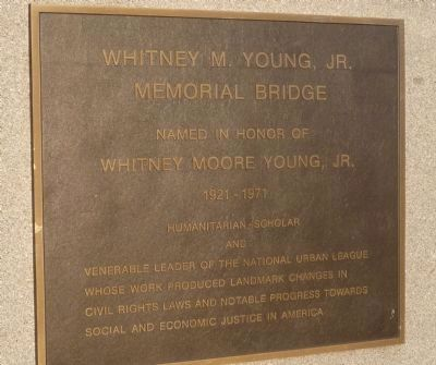 Whitney M. Young, Jr. Memorial Bridge Marker image. Click for full size.