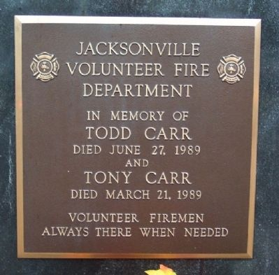 Todd and Tony Carr Memorial Marker Photo, Click for full size