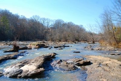 Saluda River and Shoals -<br>Looking Upstream Photo, Click for full size