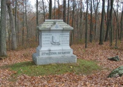 27th Connecticut Infantry Monument image. Click for full size.