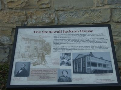 The Stonewall Jackson House Marker image. Click for full size.
