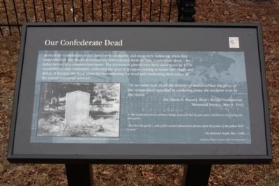 Our Confederate Dead Marker Photo, Click for full size
