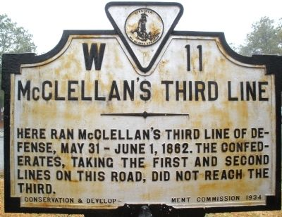 McClellan's Third Line Marker image. Click for full size.