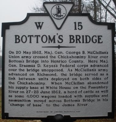 Bottom's Bridge Marker image. Click for full size.