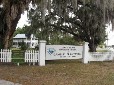 State Park entrance sign at Gamble Mansion image. Click for full size.
