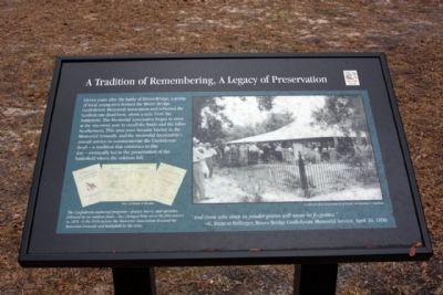 A Tradition of Remembering, A Legacy of Preservation Marker image. Click for full size.