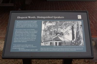 Plaque 2, Eloquent Words Distinguished Speakers image. Click for full size.