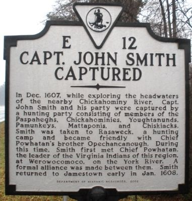 Capt. John Smith Captured Marker Photo, Click for full size