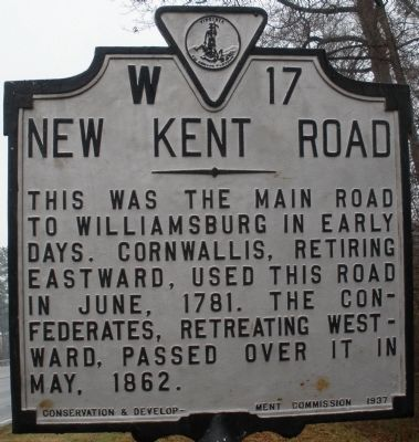 New Kent Road Marker Photo, Click for full size